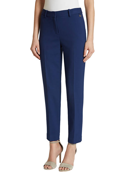 Womens Double Weave Ankle Pants
