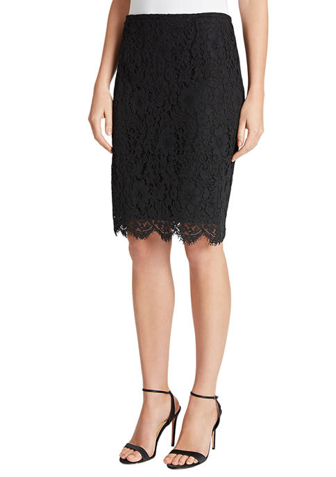 Womens Lace Pencil Skirt
