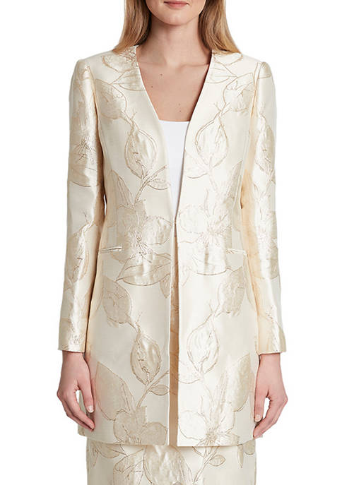 Womens Floral Jacquard Jacket