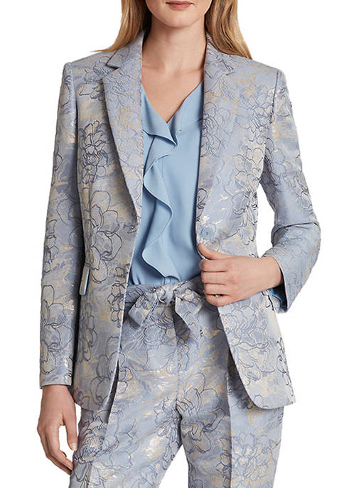 Womens Metallic Jacquard Jacket