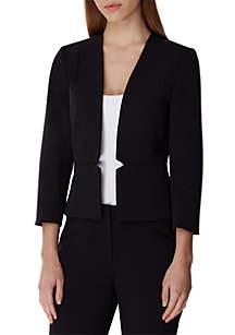 Tahari ASL 3/4 Sleeve Open Front Jacket