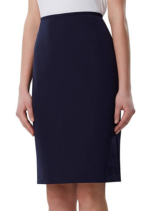 Solid Straight Skirt