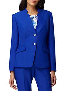 Tahari ASL Long Sleeve 2 Button Jacket