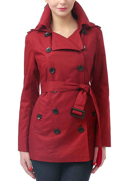 Kimi & Kai Waterproof Double Breasted Trench Coat