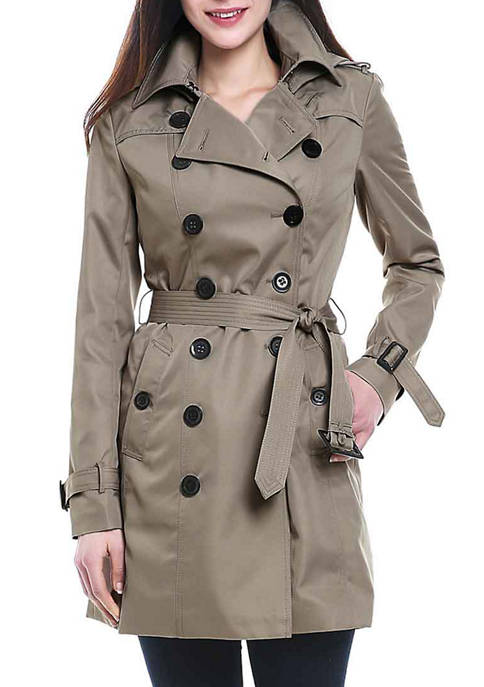 Womens Waterproof Double Breasted Trench Coat