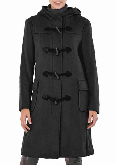Womens Lisa Wool Hooded Toggle Coat
