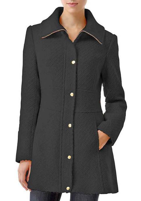 Womens Lorelei Wool Blend Boucle Walking Coat