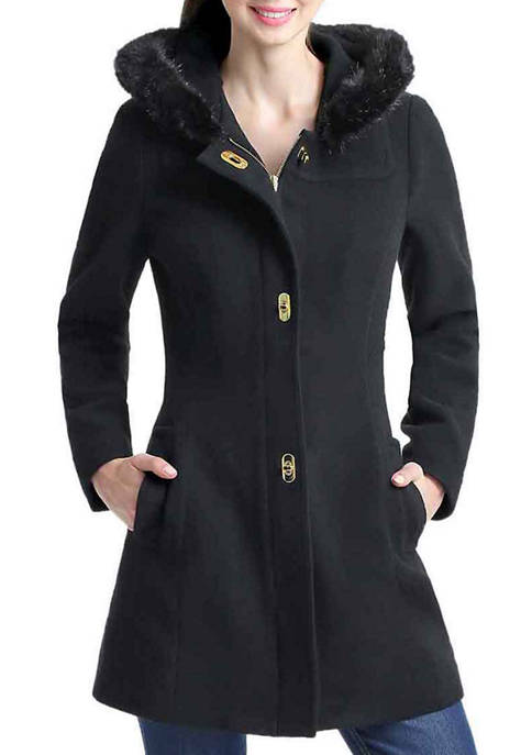 Kimi & Kai Womens Laura Wool Hooded Coat