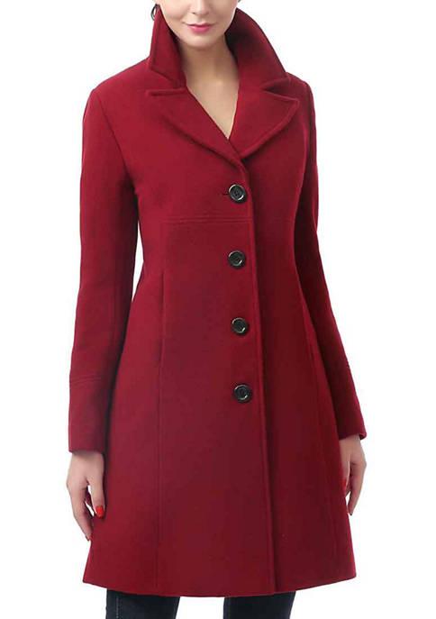 Womens Joann Single Breasted Wool Walking Coat