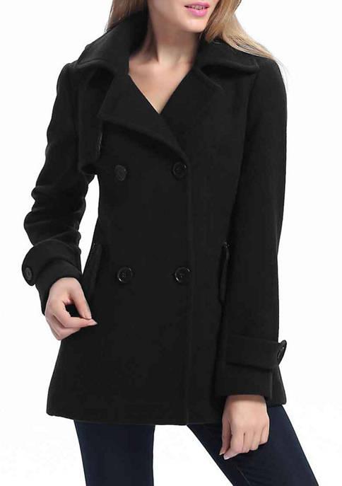Kimi & Kai Womens Wool Blend Pea Coat