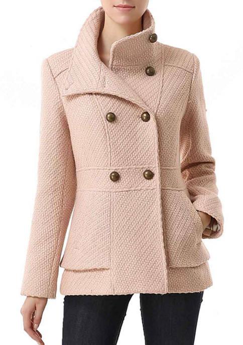 Kimi & Kai Womens Wool Blend Boucle Pea