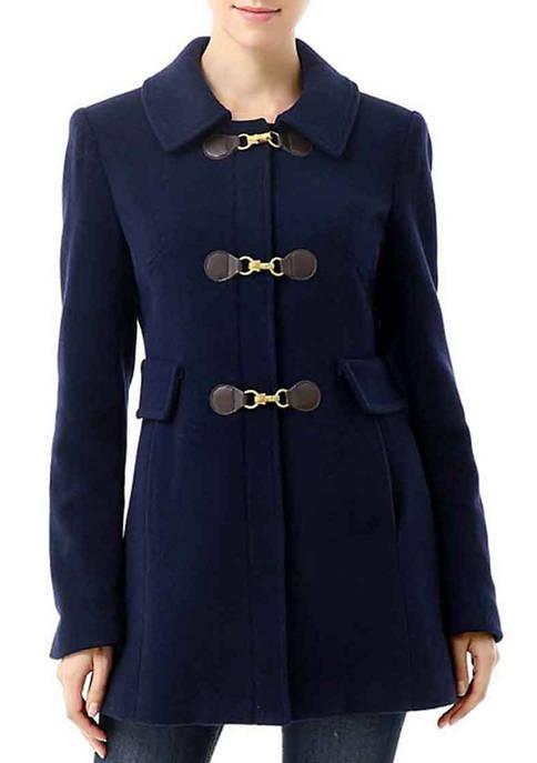 Womens Wool Blend Toggle Coat