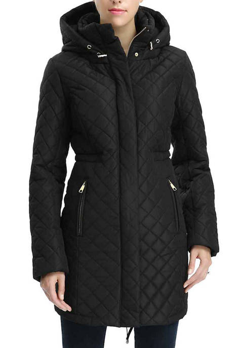 Womens Waterproof Quilted Parka Coat