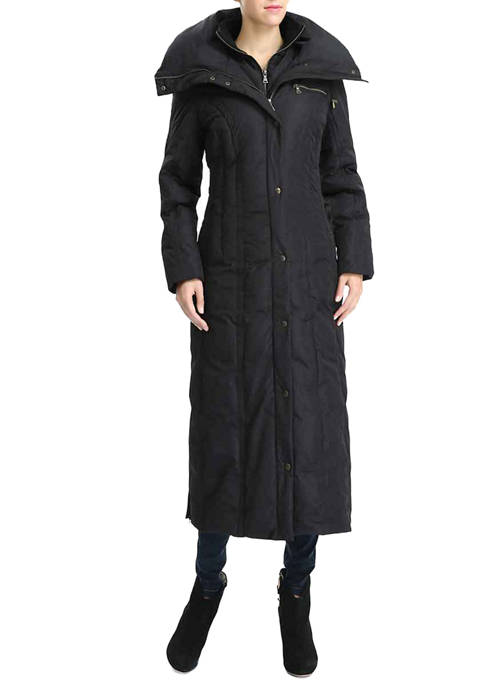 Womens Waterproof Long Hooded Puffer Down Coat