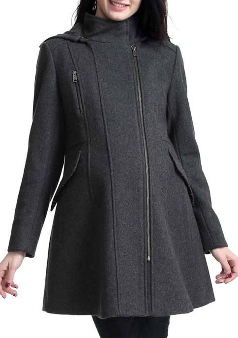 Kimi & Kai Maternity Cordella Zip Front Wool