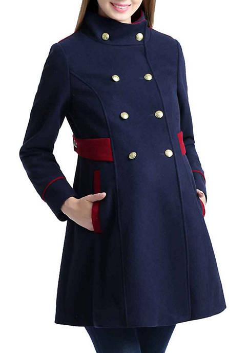 Kimi & Kai Maternity Pan Wool Blend Pea