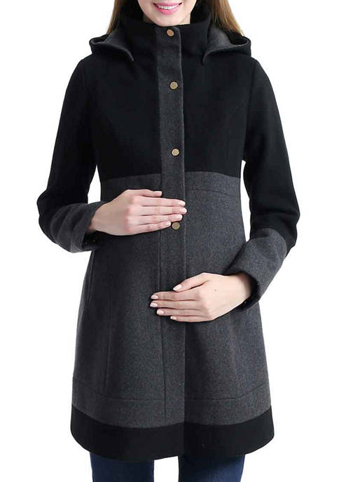 Kimi & Kai Maternity Tessa Wool Blend Colorblock