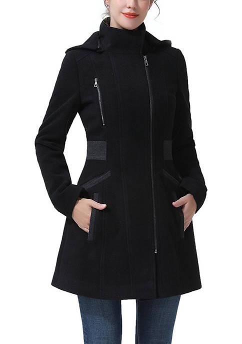 Kimi & Kai Womens Kiera Hooded Wool Coat