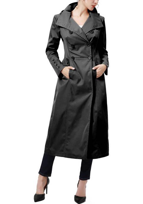 Kimi & Kai Womens Kathryn Long Trench Coat