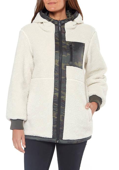 30 Inch Reversible Zip front Sherpa Jacket