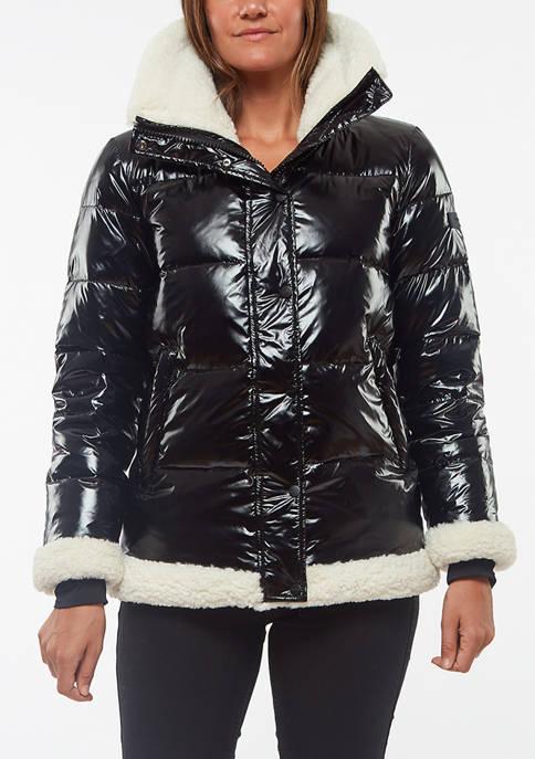 Womens High Shine Sherpa Jacket