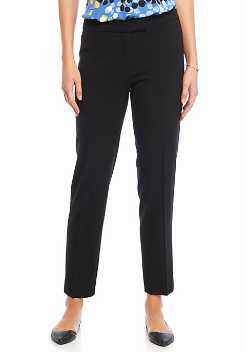 Anne Klein Solid Tailored Pants