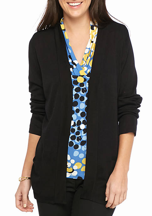 Anne Klein Open Dual Pocket Cardigan