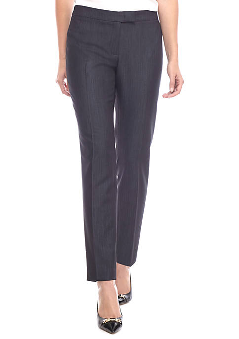 Anne Klein Womens Slim Denim Pants