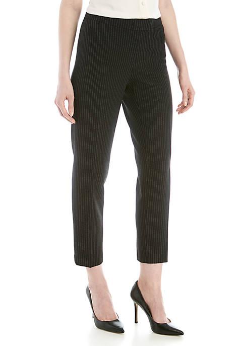 Anne Klein Pinstripe Extendable Tab Pants