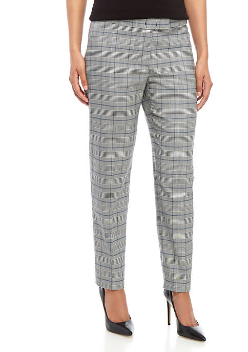 Anne Klein Glen Plaid Pants