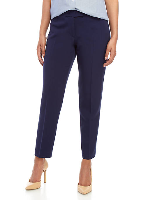 Anne Klein Crepe Extend Tab Dress Pants