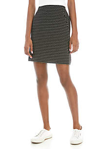Anne Klein Jacquard Skirt with Pockets