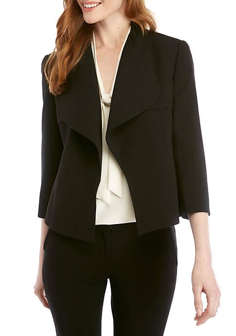 Crepe Collar Cascade Jacket