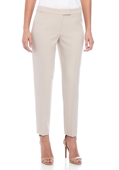 Anne Klein Crepe Extended Tab Pants