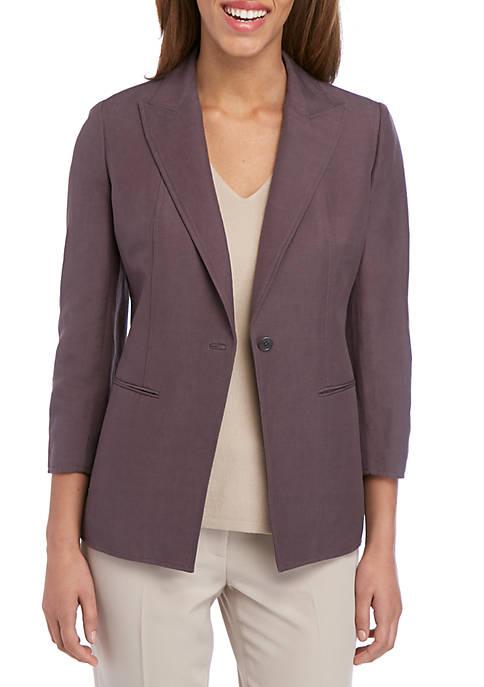 Linen Long Lapel Jacket