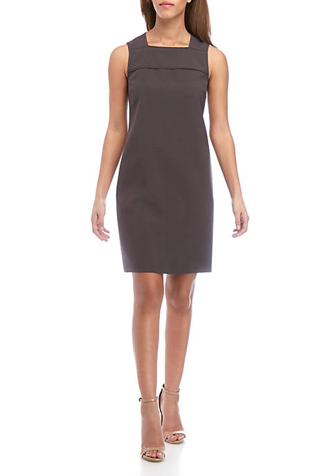 Sheath Dress with Piping
