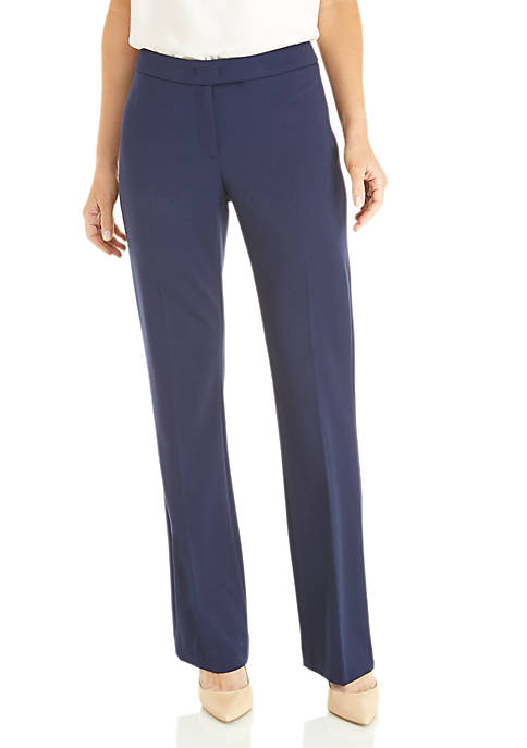 Anne Klein Stretch Twill Flare Leg Pants