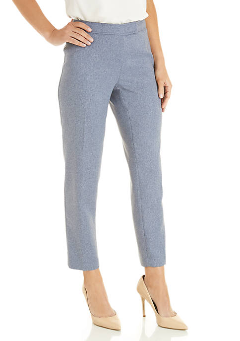Anne Klein Heather Twill Extend Tab Pants