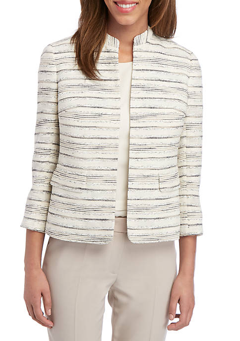 Anne Klein Multi Stripe Jacket