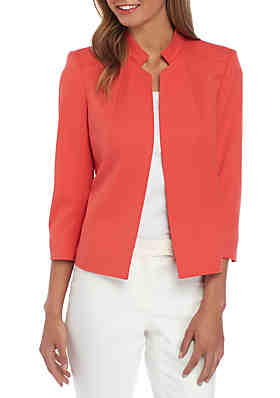 b977d8c8a663 Anne Klein Peak Lapel Jacket with Piping ...