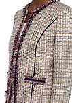 Tweed Cropped Fringe Jacket