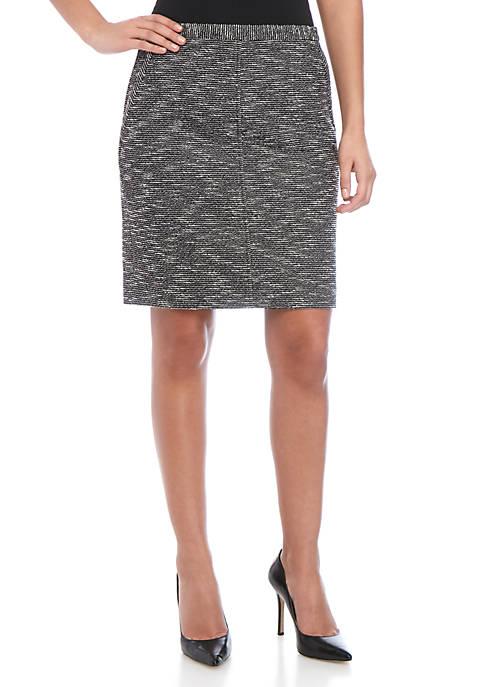 Anne Klein Tweed Pocket Skirt