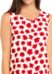 Womens Giverny Shell Tank with Darts