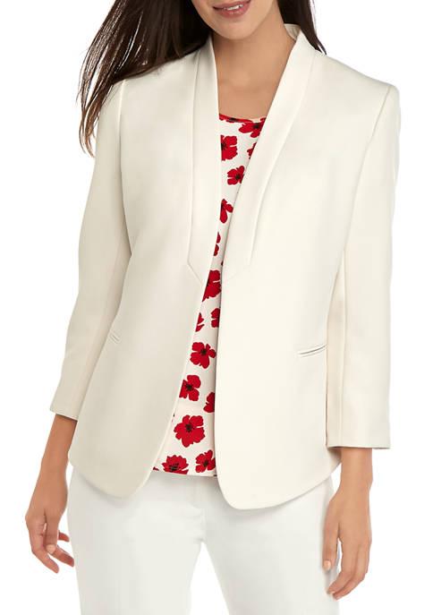 Anne Klein Womens Pocket Cardigan Jacket