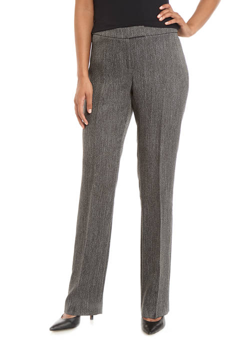 Anne Klein Womens Houndstooth Bowie Pants
