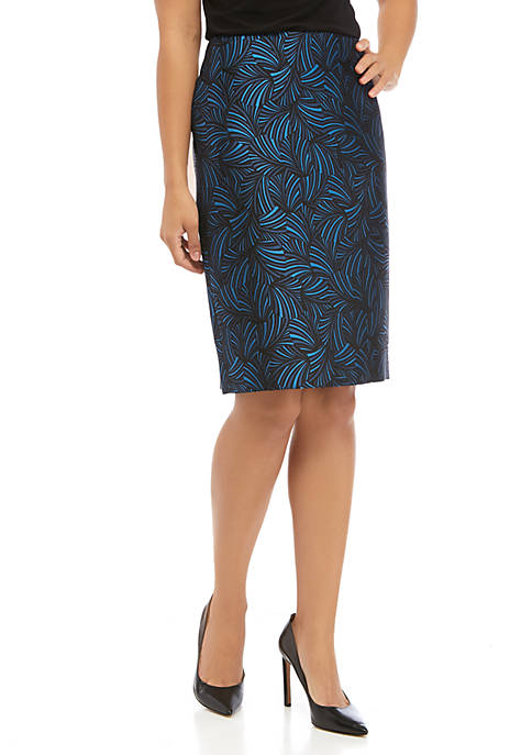 Anne Klein Womens Jacquard Skirt