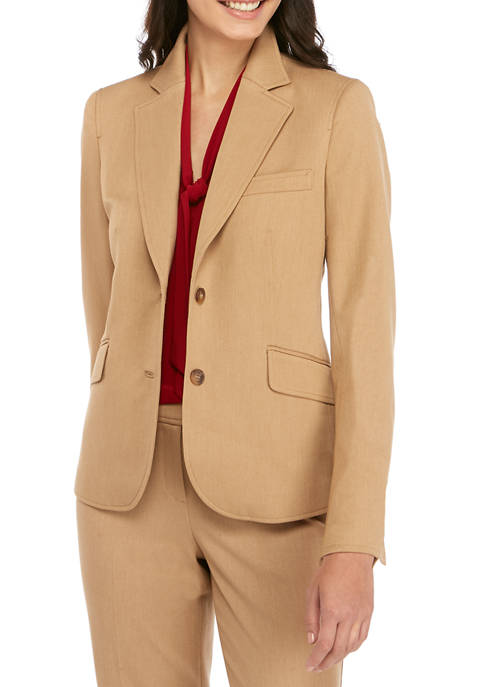 Womens Twill Two Button Jacket