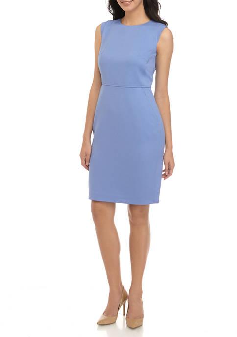 Anne Klein Womens Twill Sheath Dress