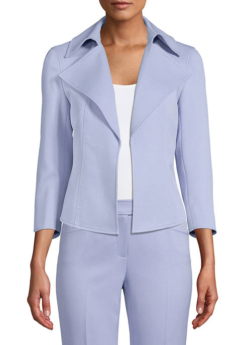 Anne Klein Womens Wing Collar Jacket