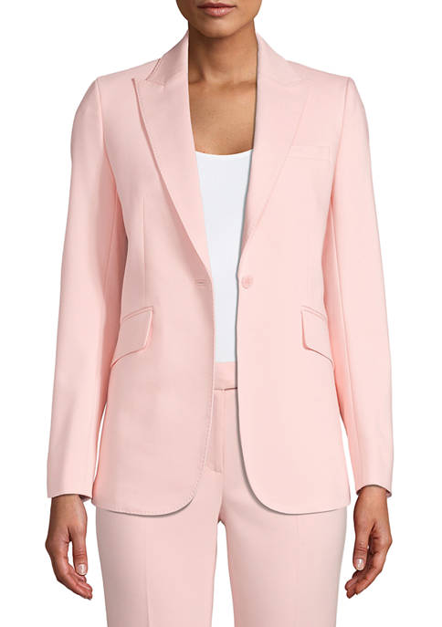 Anne Klein Womens Long Peak Lapel Jacket